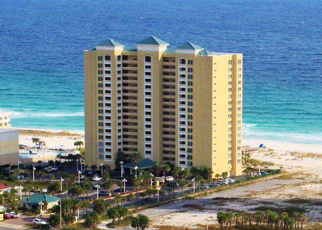 This Gulf front condominium offers swimming pools, hot tub, fitness center and beach access. - Emerald Isle #1008 - Pensacola Beach - rentals