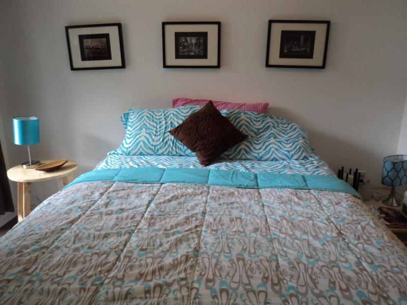New comfortable Queen bed w box spring - Central NEW private apartment W garage & balcony! - Ottawa - rentals