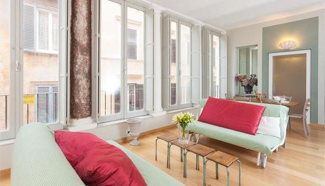 The living room - Domus Ciancaleoni Mimise Suite 1°Cat. Colosseum - Rome - rentals