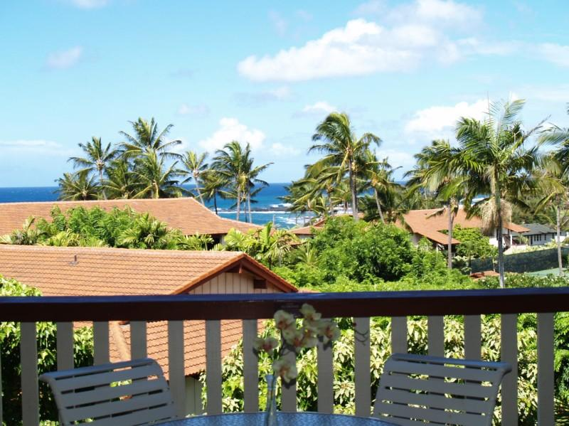 Large Lanai w/Ocean Views - Luxury Ocean View Poipu Beach Condo @ Nihi Kai 804 - Poipu - rentals