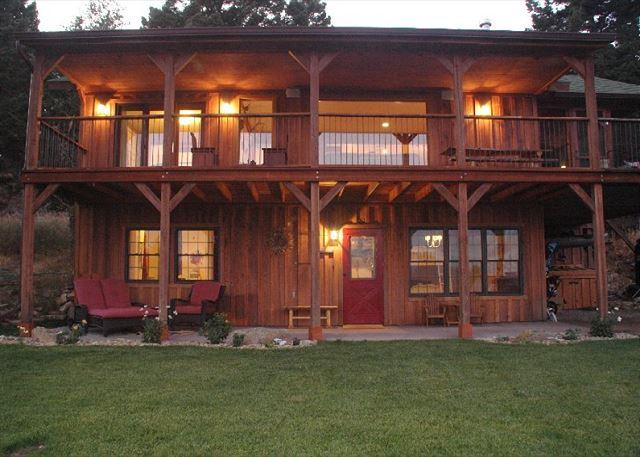 Big windows and lots of deck space for taking in the views - Madison Mountain Oasis - McAllister - rentals