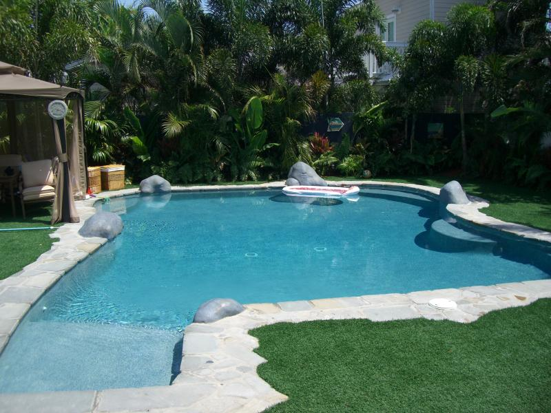 Large Luxury Pool in  private secluded Tropical back garden 916 James St. - Share 5 Star $2.4m Home in Old Town in Key West - Key West - rentals