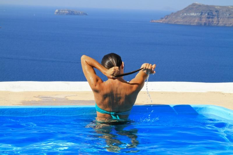 Villa with prvt swimming pool,Volcano view,parking - Image 1 - Oia - rentals