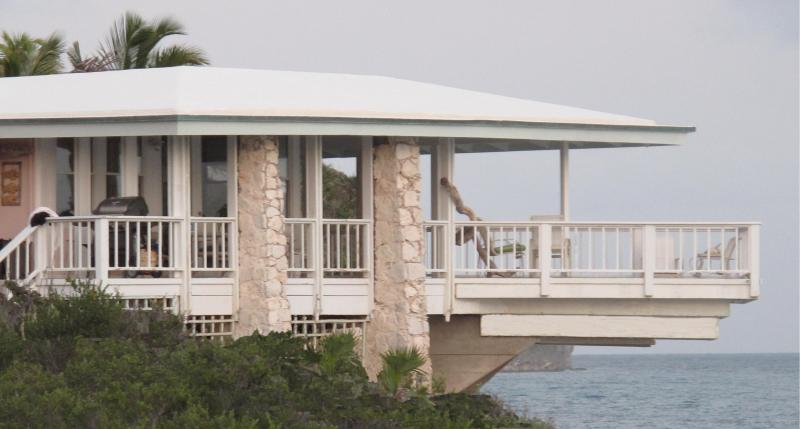 Profile of Cliff House and its beautiful over-the-water deck! - Cliff House - Paradise found! - Gregory Town - rentals