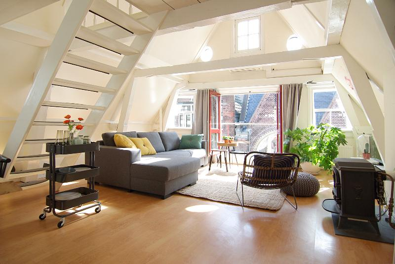 Livingroom - Apartment Honey, Jordaan area! - Amsterdam - rentals