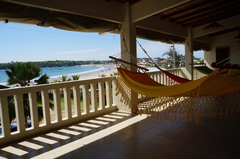 view from balcony - beachfront house casa Ayangue,  Ayangue, Ecuador - Ayangue - rentals