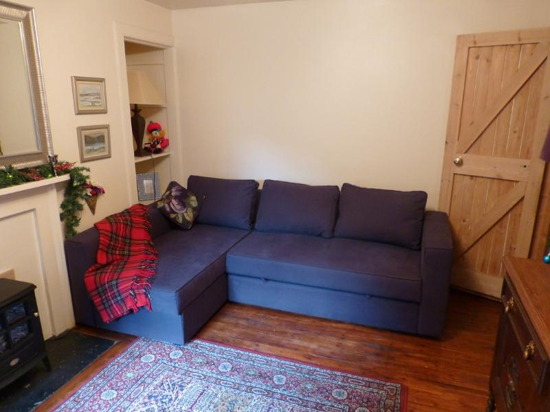 Living area with a sofa that converts in to a double bed - Greyfriars 2: quiet Edinburgh City Centre retreat - Edinburgh - rentals