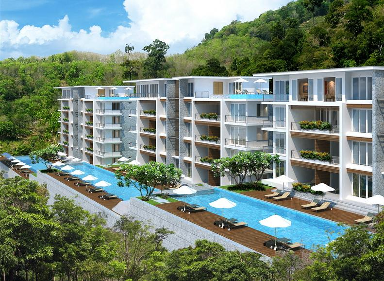2 Bedroom Pool Access Condo between Patong - Kamala Phuket Thailand Glimpse of Sea Viea Water Falls - Pool Access Condo Patong - Kamala Falls - Patong - rentals