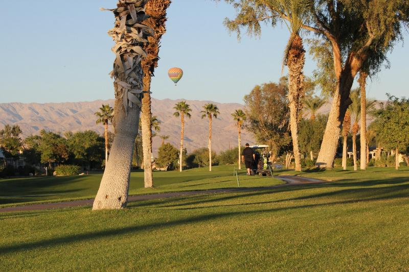 Back yard view - Relaxing Golf Course Home at Indian Palms CC - Indio - rentals