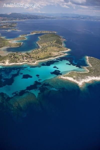 bird's eye view of the area - Ormos Panagias, 2 bedroom flat, steps from sea, 2. - Sithonia - rentals