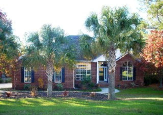 Front view features palmetto trees - Spacious Southern home in Aiken/Augusta area - Aiken - rentals