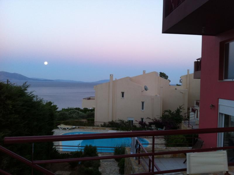 Sea and Pool with moon - Sophisticated Aegean-Sea Living Near Athens - Marathon - rentals