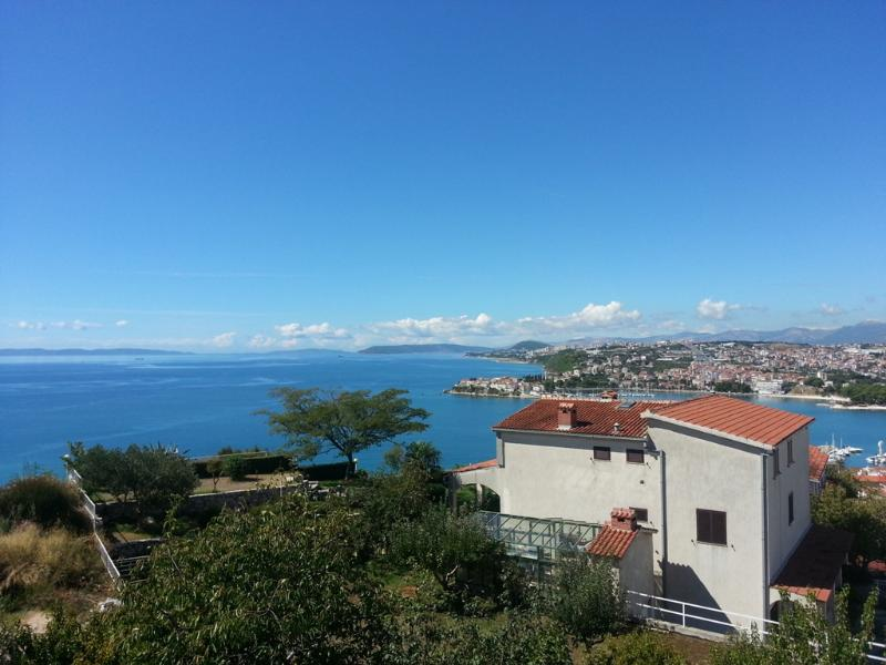 Sea view from the terrace - Sea view 3BD apartment - Podstrana - rentals