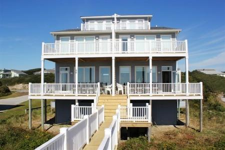 Exterior Oceanfront - Nautilus East - Emerald Isle - rentals