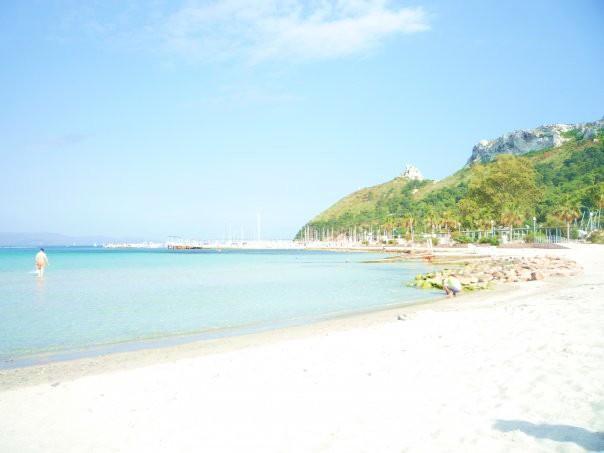 Beach of Cagliari city, the Poetto, on Mediterranean Sea - Sardegna Sardinia Cagliari vacation - Cagliari - rentals