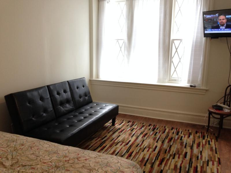 Living Room/Bedroom with fold down couch - Studio A Apartment In Philadelphia - Philadelphia - rentals