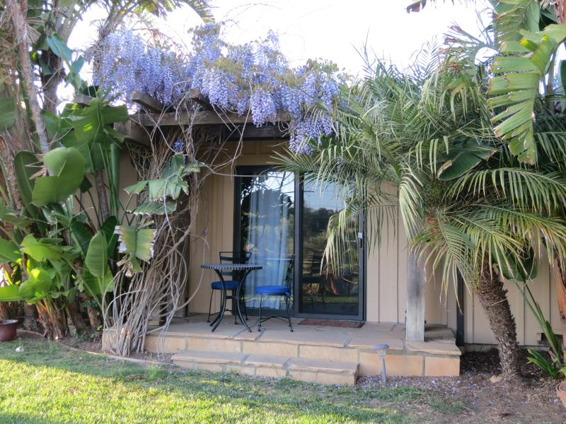 Wisteria blooming in Spring - Tropical Getaway With Patio Entrance # 2 - Santa Barbara - rentals