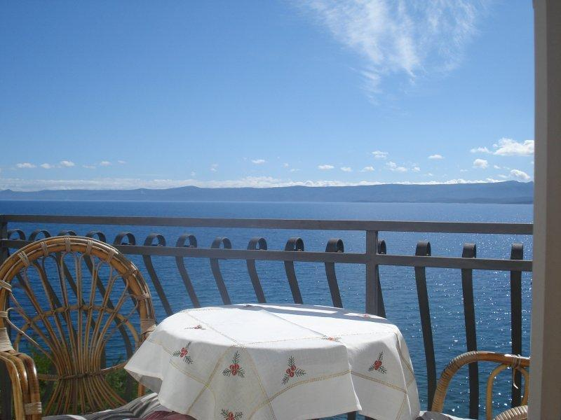 balcony - Seaside Bol apartment Santo 2, breakfast included - Bol - rentals