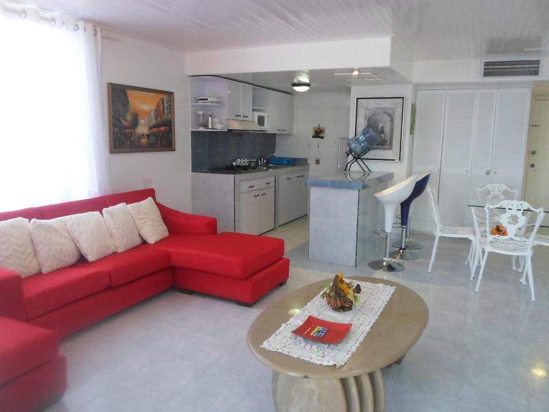 Living-room from apartment 1 of the Emerald of he sea - Apartments sea wiew en San Andres Island Colombia - San Andres Island - rentals
