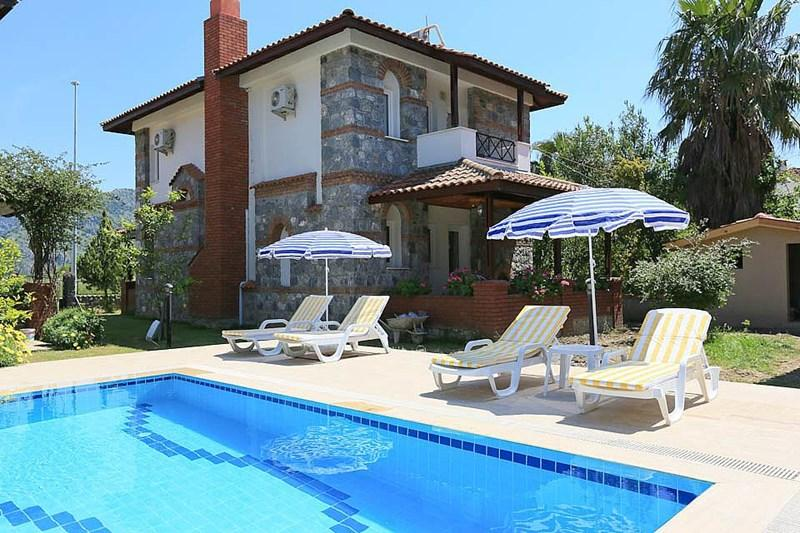 decorated with flowers,shared big pool,english tv, - Image 1 - Dalyan - rentals