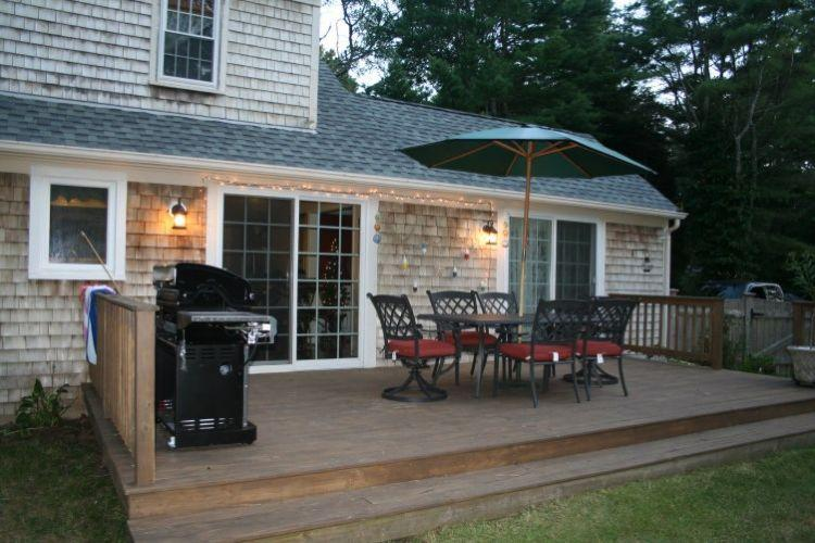Large Back Deck w/ Furniture - 9 Turtle Cove Rd - East Sandwich - rentals