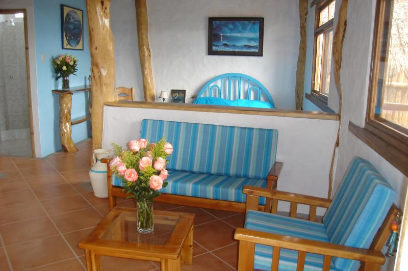 Living room area - small fully equipped suites for two. - Canoa - rentals