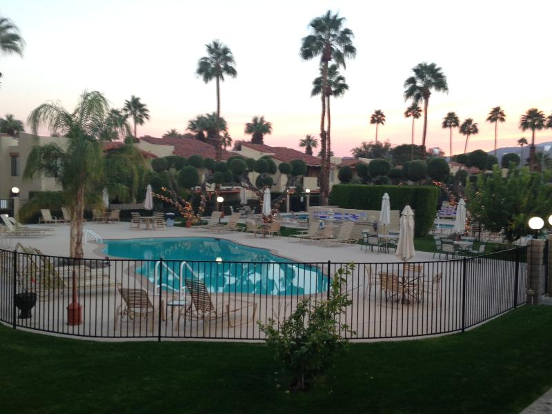 One of 2 large pools. Each pool has lounge chairs, tables with umbrellas, BBQs. - Perfect Palm Springs Retreat, Great Location, Wonderful Amenities - Palm Springs - rentals