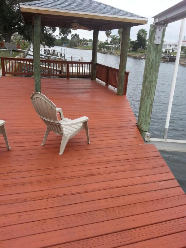 Freshly Stained Dock! - Gulf Waterfront Escape!! - Hudson - rentals