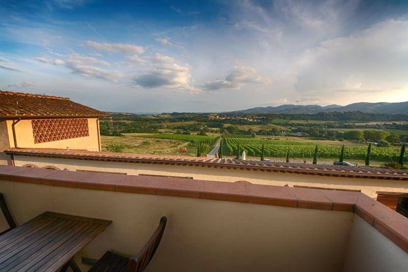 View from balcony - Holiday home rental near Florence, Chianti Italy - Rignano sull'Arno - rentals