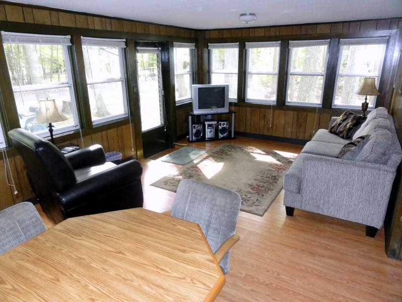 Panoramic view into woods, all new furniture throughout house. - Glen's Tawas Lake Home, Pets Welcome, Boat - East Tawas - rentals