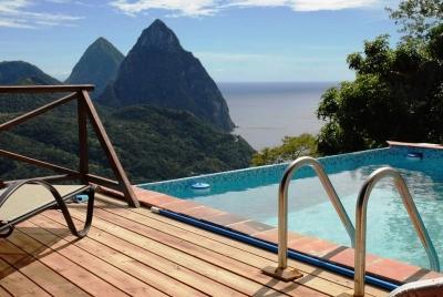 Villa Colombette: Pitons, Ocean, Rain Forest views - Image 1 - Soufriere - rentals