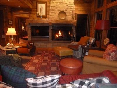 charming living room with a wood burning fireplace - Stunning Rustic Home with Magnificent Mntn. Views! - Crested Butte - rentals
