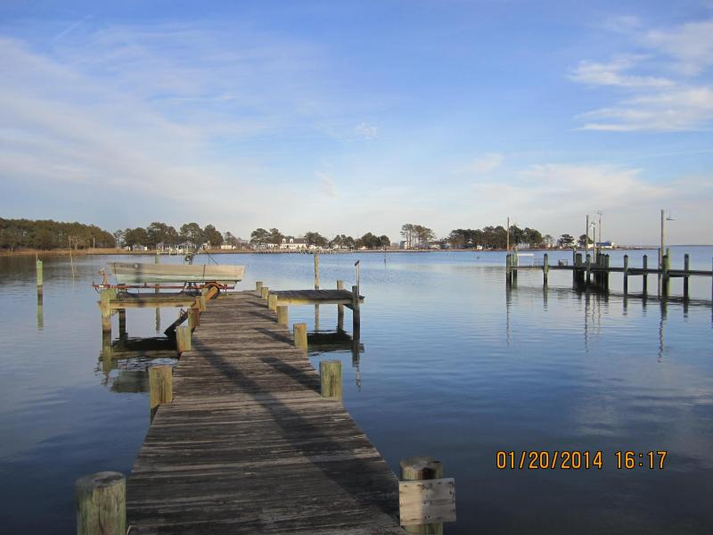 Our Private Dock out front - Hoopers Island Studio,  360 Degrees WATER VIEWS - Fishing Creek - rentals