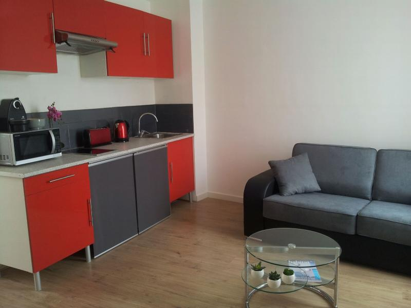 Living room - 5 min walk from Croisette/Palais. Lovely 2 room. - Cannes - rentals