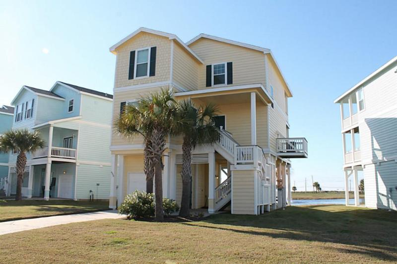 Front view of out beautiful cottage - Pointe West 3BR/3BA 2nd Row Luxury Beach Cottage - Galveston - rentals