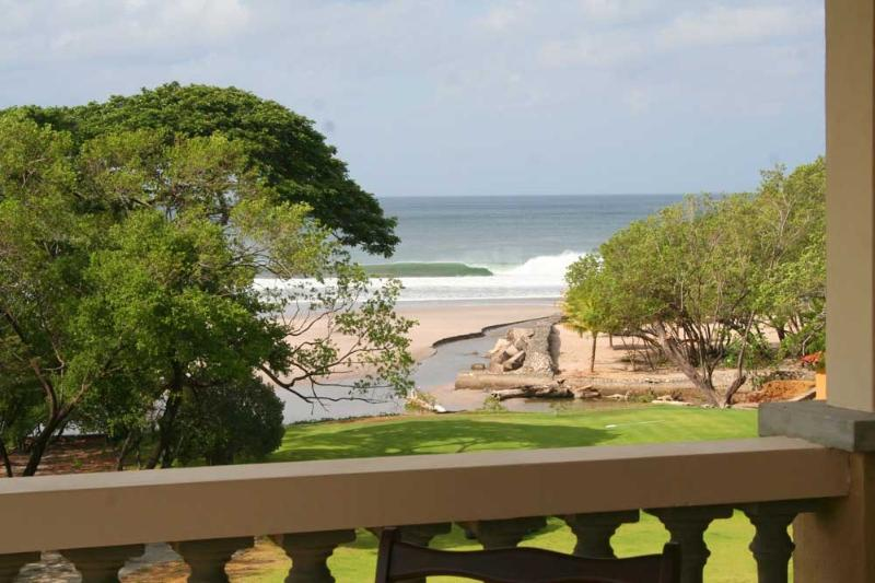 view of Colorados breaking from the balcony - Colorados Surf Condo at Hacienda Iguana - Playa Gigante - rentals
