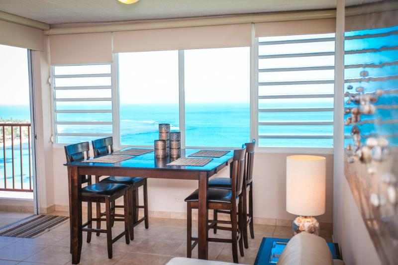 Beautiful ocean views from dining table - Amazing Beach Front Apartment with Oceans Views!!! - Luquillo - rentals