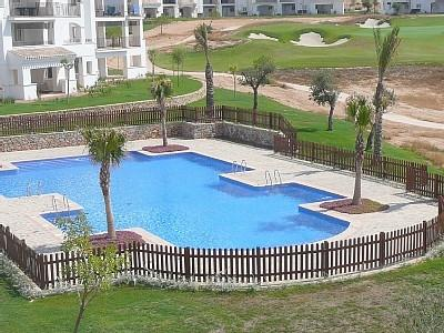 Pool from terrace - Luxury Golf Apartment in Murcia - Sucina - rentals