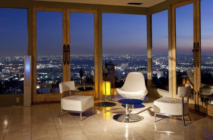 The Night View Over The Lights Of LA From The Living Room - Hollywood Hills -Panoramic View Retreat - Los Angeles - rentals