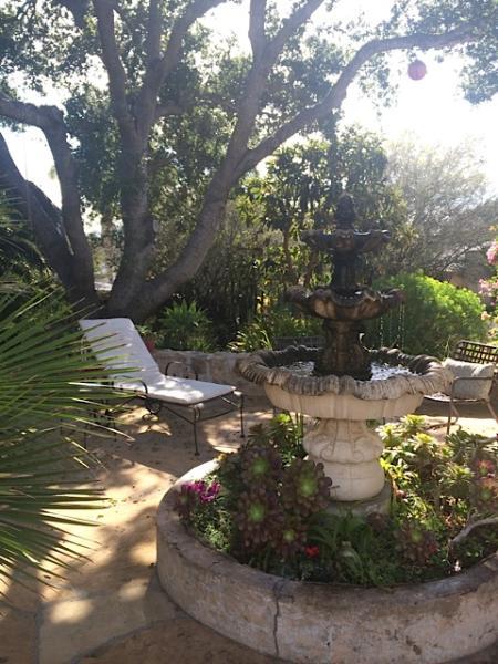 Entry Fountain - Sunny Private Downtown Retreat Set In Lush Gardens - Santa Barbara - rentals