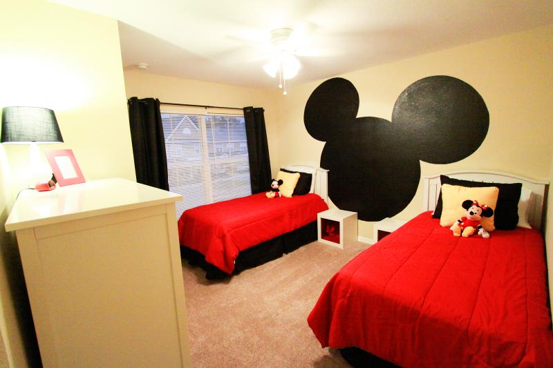 Mickey twin room with toys in nightstands and large chest of drawers. - Luxury Retreat, Close to Disney, Perfect Location! - Kissimmee - rentals