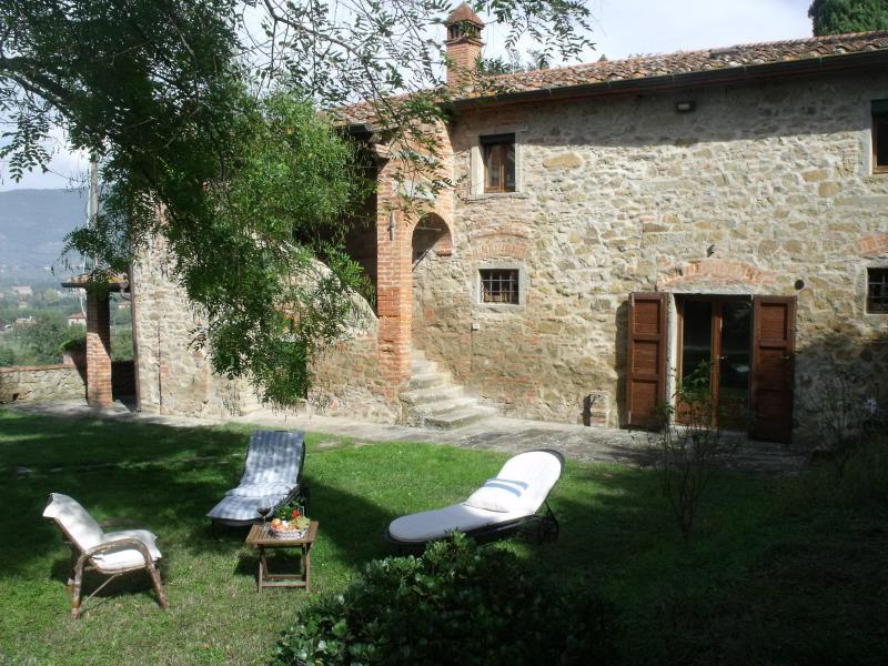 Fiore di Chio-Exterior of the main house - VILLA Il SOLE DI CHIO, with SWIMMING POOL, near CORTONA - Cortona - rentals