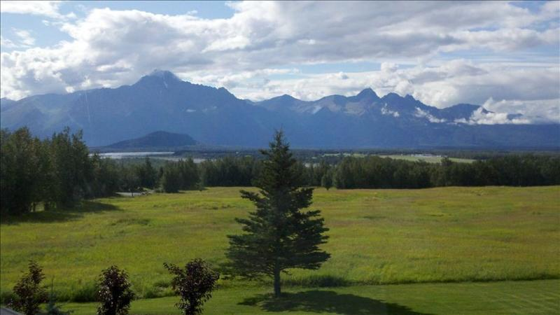 Front Yard View - Unique Alaskan Lodge with Breathtaking Views! - Palmer - rentals