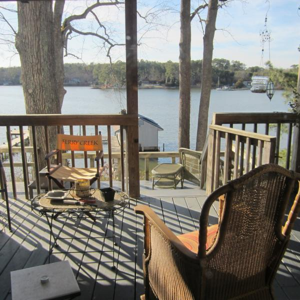 View from Great Room - Waterfront Home with Pier and Boathouse, 4ft MLT - Gloucester - rentals