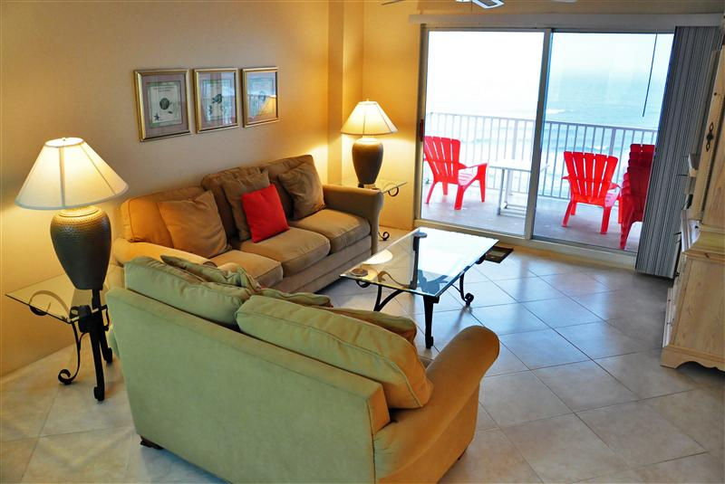 Oceanfront Living Room - April/May $pecial - Condo Seawinds #1004- O. Front - Ormond Beach - rentals