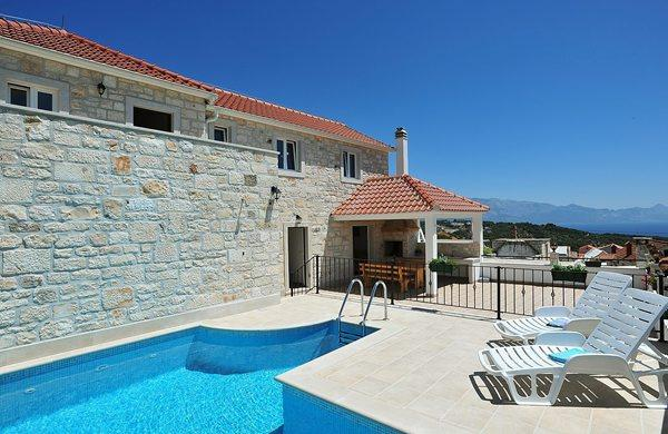 Holiday home Marivilla with pool for 8 in Selca, Brač - Image 1 - Selca - rentals