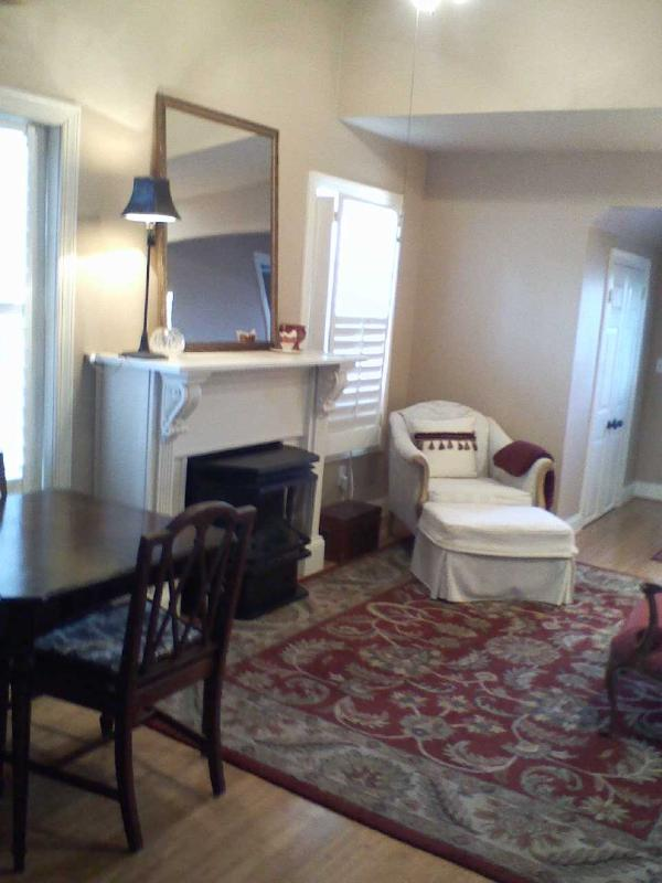 Living Room w/ gas fireplace - New Loft Guest House - Nashville - rentals