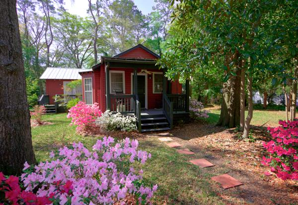 entrance in spring - Adorable 2 bed & bath Cottage In Historic Beaufort - Beaufort - rentals