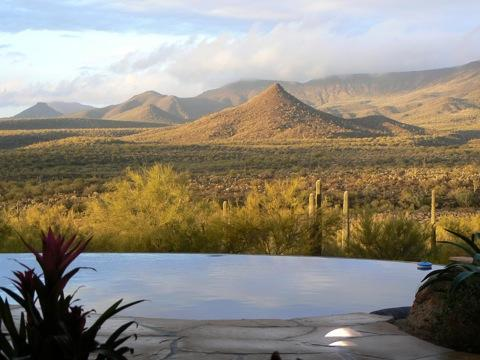 view from great room - The Tonto Vista Hacienda, SPECTACULAR VIEW OF THE TONTO NATIONAL FOREST POOL/SPA - Cave Creek - rentals