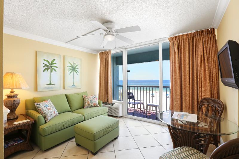 Beach Front Studio Suite Living Area - Directly on The Beach Studio! See Dolphins! - Madeira Beach - rentals